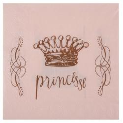 Serviettes Princesse 20  pièces.