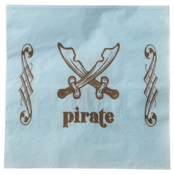 Serviettes de table pirate 20 pièces
