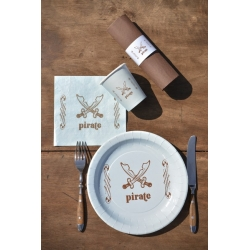 serviettes de table pirate