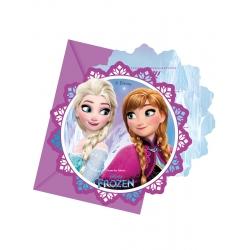 cartes d invitation + enveloppes La Reine des Neiges Flocons