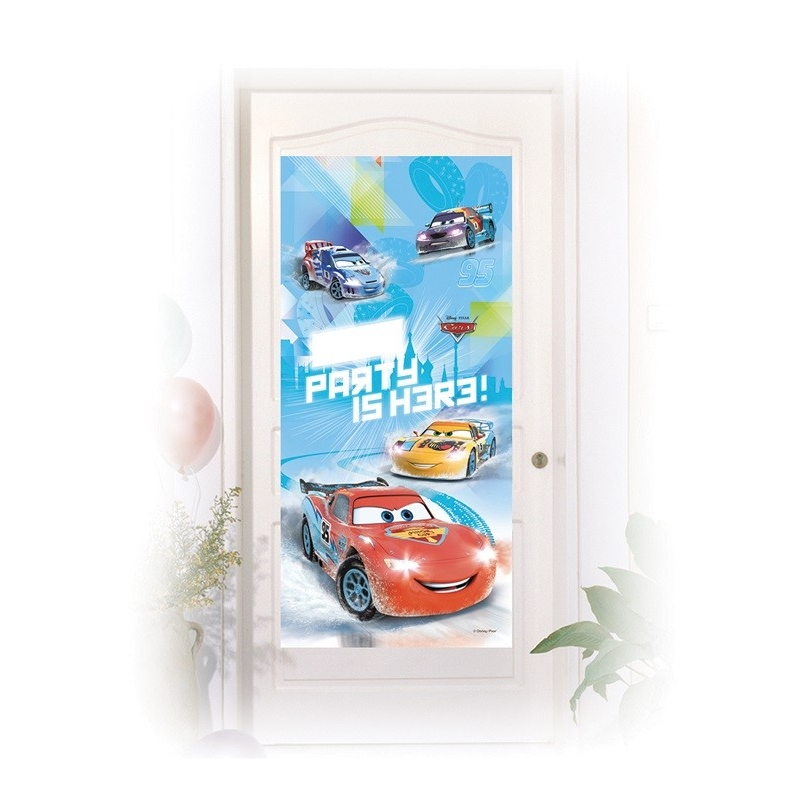 Decoration de porte Cars Ice Racers™  x  cm