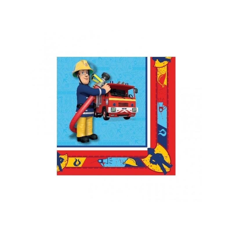 Serviettes en papier Sam le pompier™  x  cm