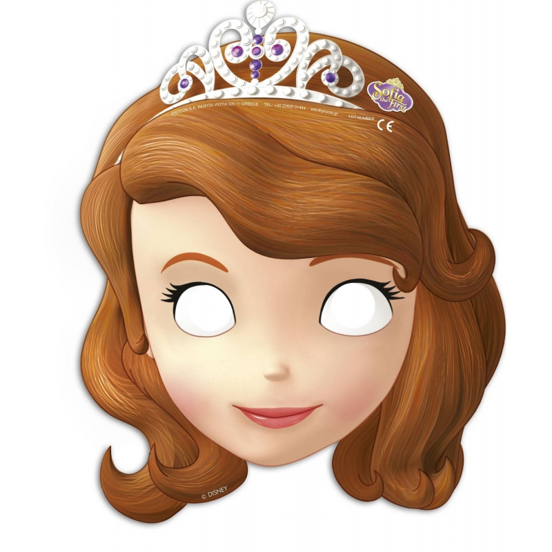 Masques en carton Princesse Sofia