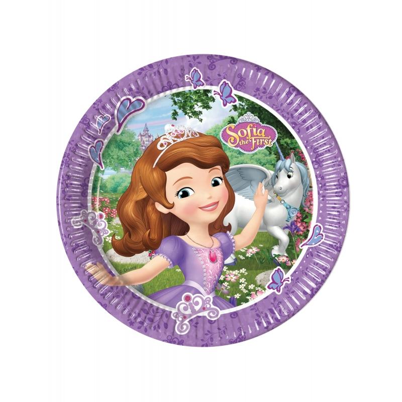 Assiettes en carton cm Princesse Sofia et la licorne