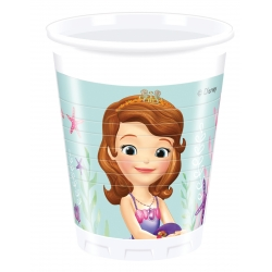 Gobelets en plastique Princesse Sofia  ml