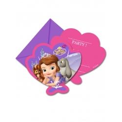 Cartes d invitation avec enveloppes Princesse Sofia