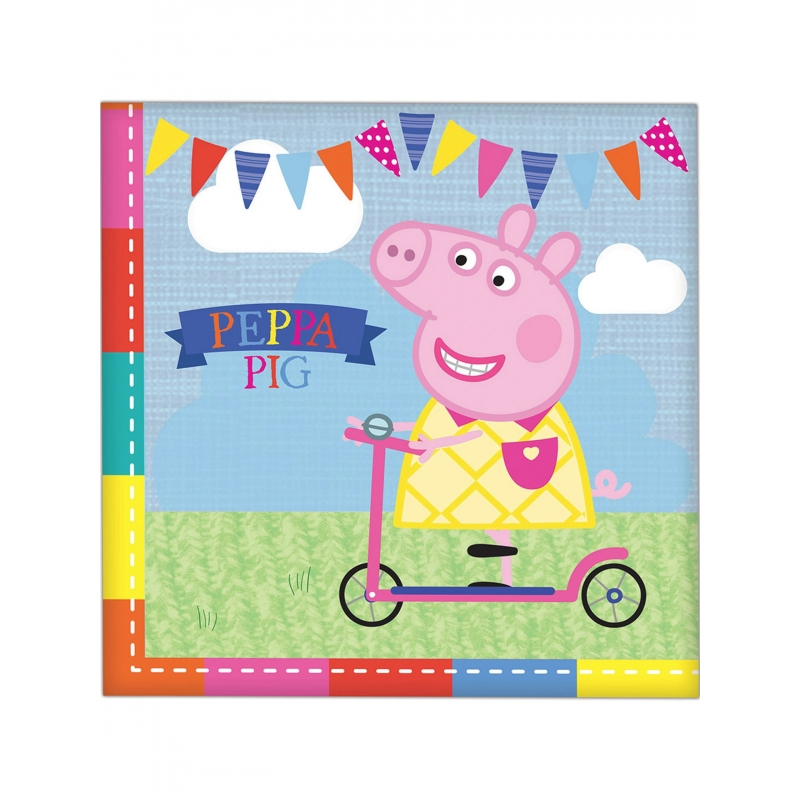 Serviettes en papier Peppa Pig