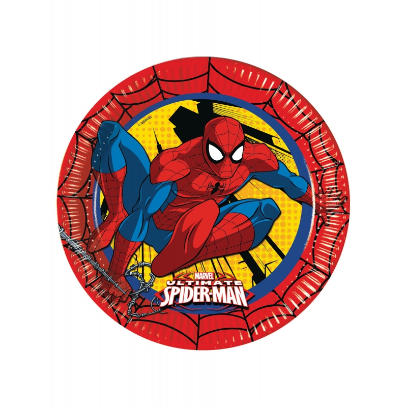 Assiettes en carton Ultimate Spiderman