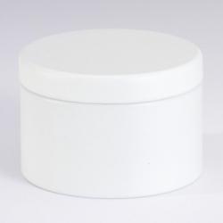 Boite en métal blanc