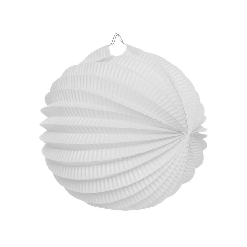 boule déco accordéon blanc