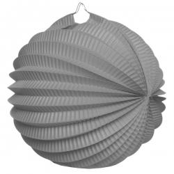 Boule décoration accordéon Gris