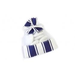sac fantaisie bleu et blanc