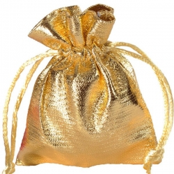 Sachet brillant doré lot de 6 pièces