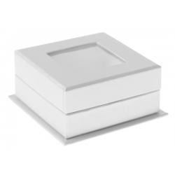 Boîtes carrées à fenêtre blanche