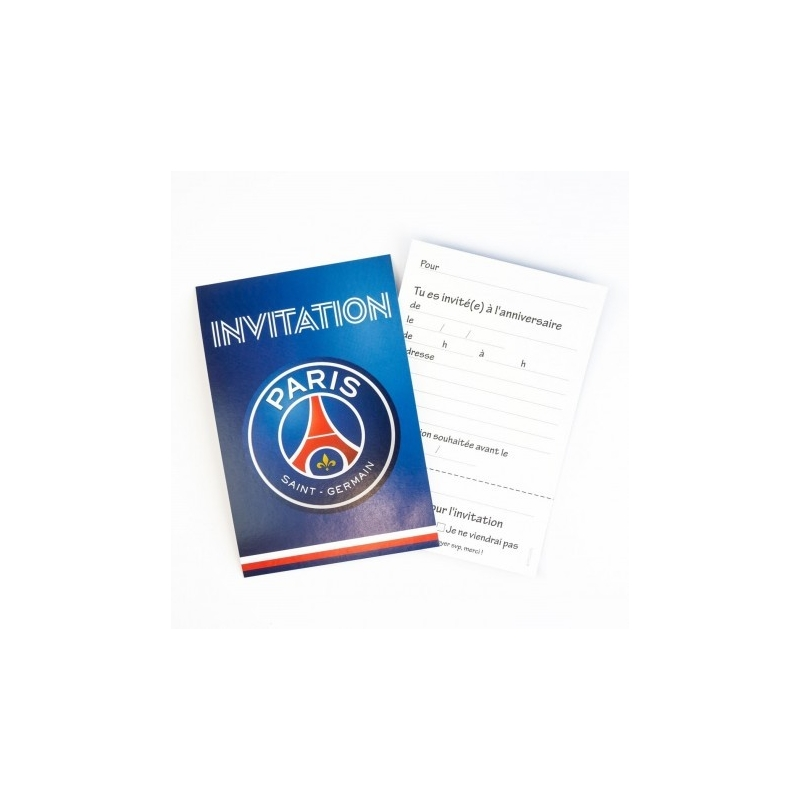 carte d'invitation PSG