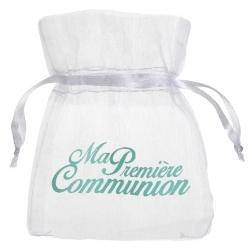 Sachet organdi communion