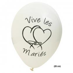 """BALLON IMPRIME """"VIVE LES MARIES"""""""