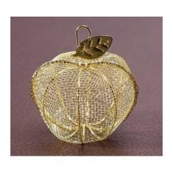 Pomme en fer forgé dorée