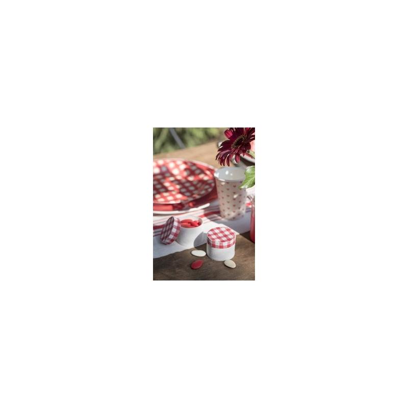 Boite tradition rouge et blanche