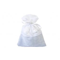 5 sachets bi-matières  bleu et blanc
