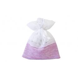 5 sachets bi-matières  rose et blanc