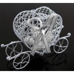 carrosse métal blanc - l'instant dragées