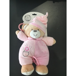 Peluche bebe musical Rose