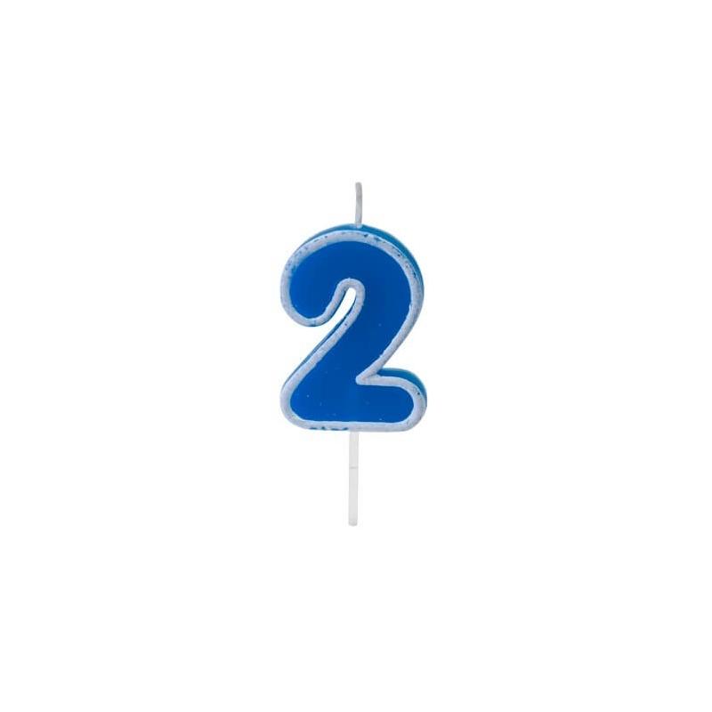 Bougie anniversaire bleu sur pique 2 ans