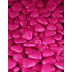Petits coeurs fuchsia chocolat