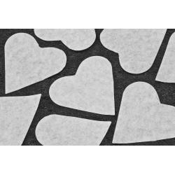 Cœur blanc en papier