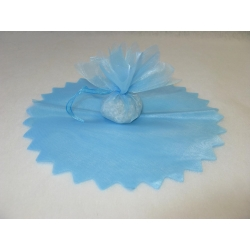 10 Ronds organza feston en pointe CIEL