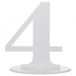 Marque table chiffre 4