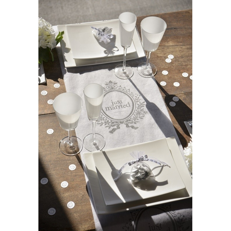 chemin de table Just Married