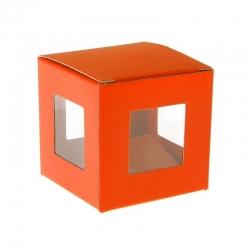 Boîte carrée Orange (Sachet de 6 pièces)