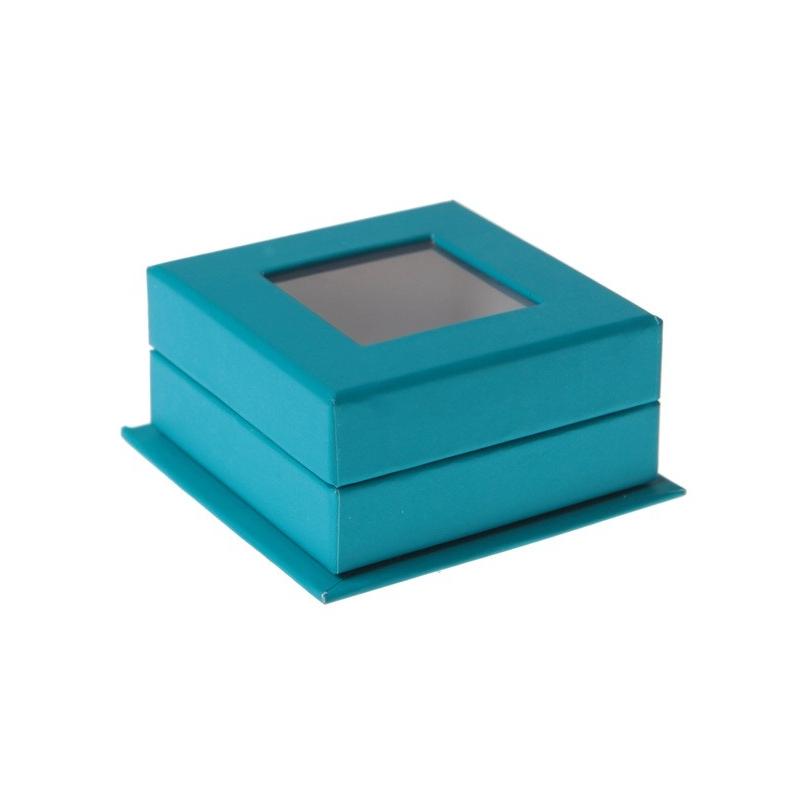 Boîte carree à fenêtre Turquoise Sachet de  piees