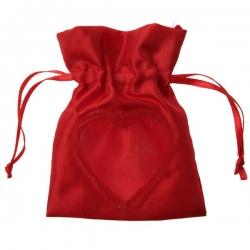 Sachet avec fenêtre coeur Rouge (Sachet de 6 pièces)