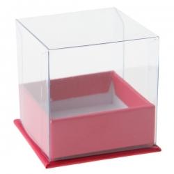 Boîte Cube Fuchsia Sachet de  piees