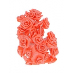Mini-roses en satin Corail