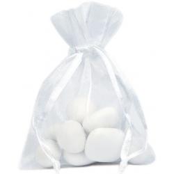 Sachet Organdi uni Blanc (Sachet de 10 pièces)