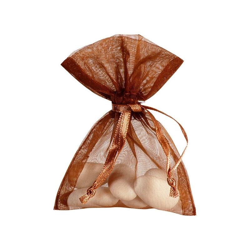 Sachet Organdi uni Chocolat (Sachet de 10 pièces)