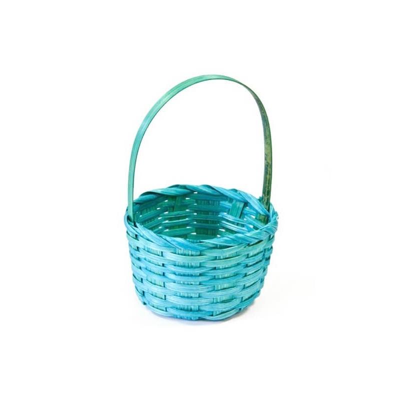 Petit panier osier Turquoise