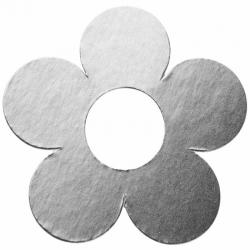 Marque-place fleur metallise Argent Sachet de  piees