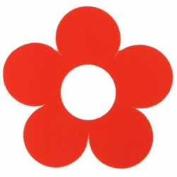 Marque-place fleur Rouge Sachet de  piees