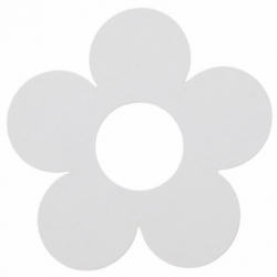 Marque-place fleur Blanc Sachet de  piees