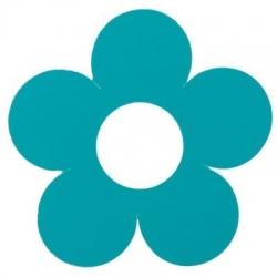 Marque-place fleur Turquoise Sachet de  piees