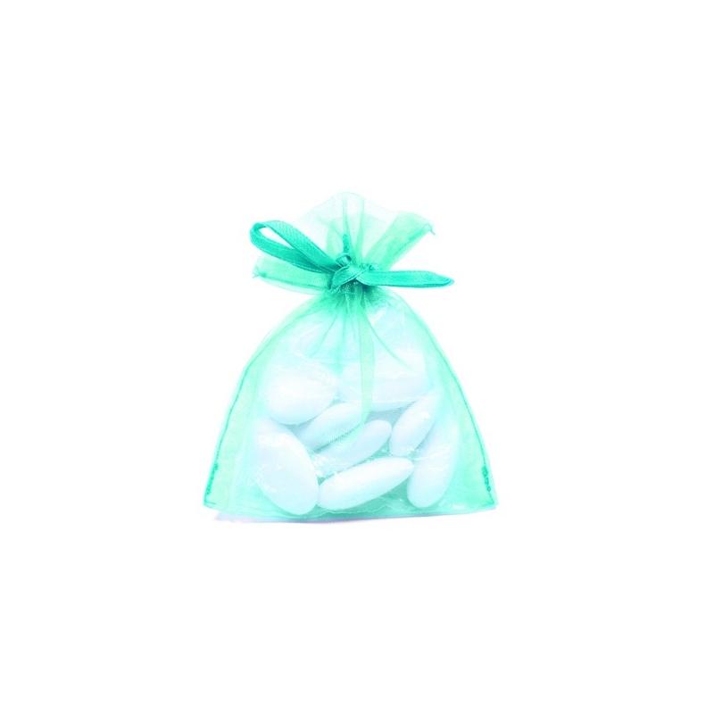 10 sachets en organza Jade