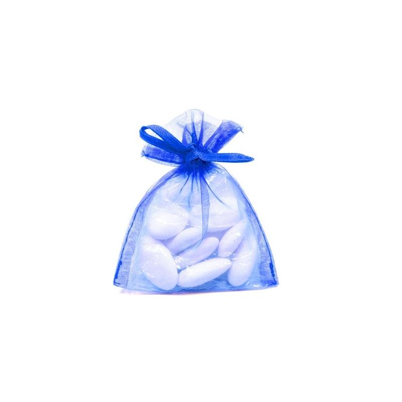 10 Sachets organza Bleu roi