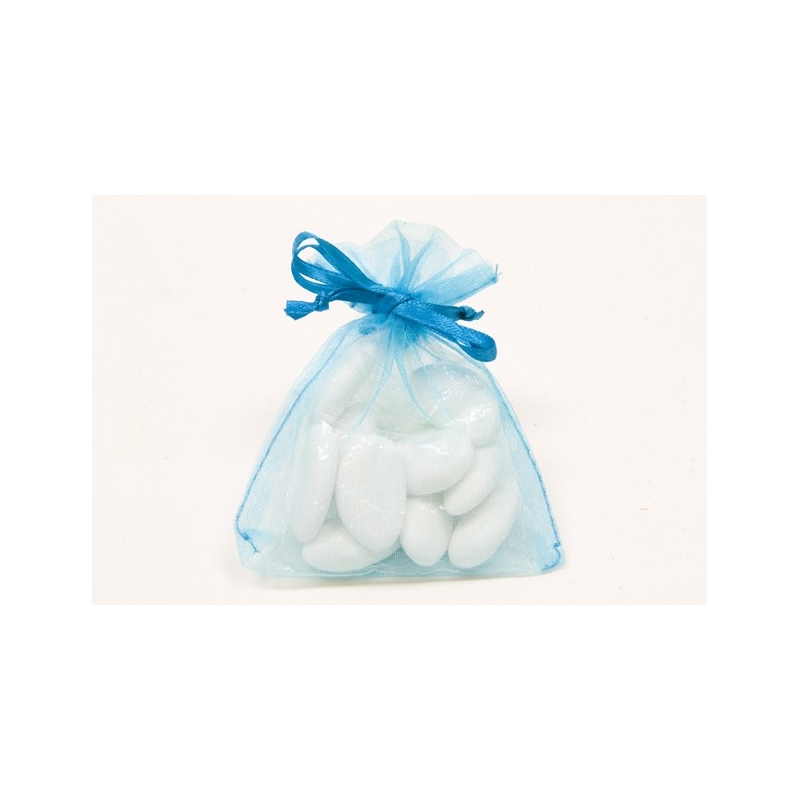sachets organza Turquoise