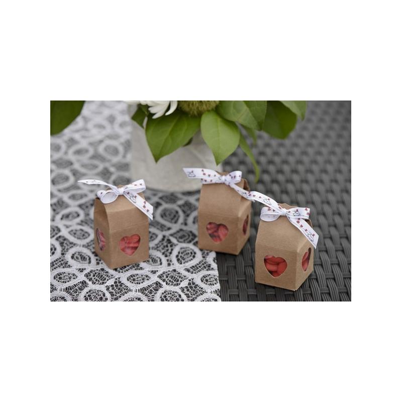 Boîte coeur Kraft (Sachet de 4 pièces)
