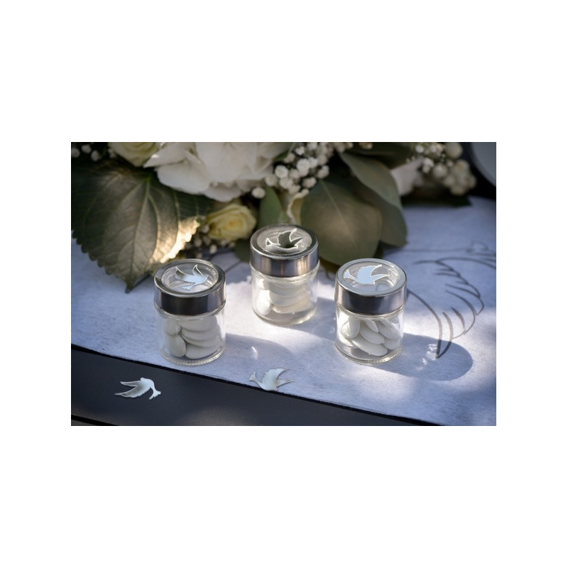 4 pots avec couvercle transparent